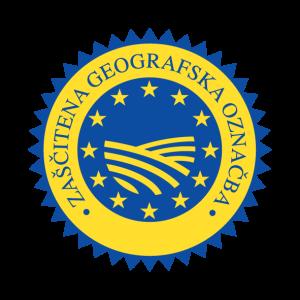 Znak zaščitene geografske označbe s katerim so  označeni izdelki certificiranih proizvajalcev.